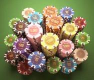 Virutas del casino Imagenes de archivo