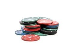 Virutas del casino Foto de archivo libre de regalías