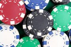 Virutas del casino fotos de archivo
