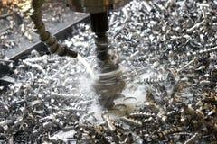 Virutas del metal Foto de archivo libre de regalías