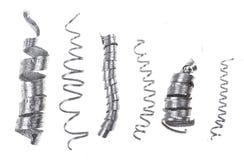 Virutas del metal Imagen de archivo