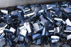 Virutas del metal Imagen de archivo libre de regalías