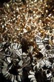 Virutas del metal del CNC Imágenes de archivo libres de regalías