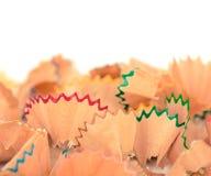 Virutas en colores pastel coloridas del lápiz Fotografía de archivo