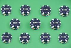 Virutas múltiples del casino imagenes de archivo