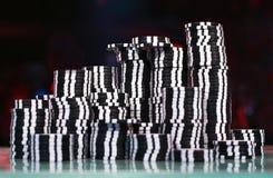 Virutas para el póker foto de archivo libre de regalías