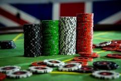 Virutas para el póker Fotografía de archivo