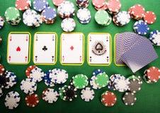 Virutas y casino fotos de archivo
