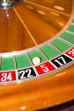 Virutas y ruleta de póker Fotografía de archivo