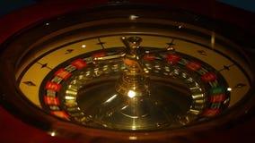 Virutas y ruleta de póker almacen de video