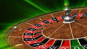 Virutas y ruleta de póker ilustración del vector