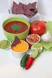 Virutas y salsa Imagenes de archivo