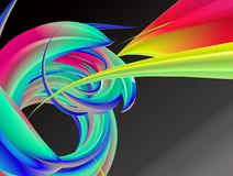 Virvel av färgabstrakt begreppbakgrund Royaltyfri Foto