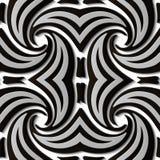 Virvel för spiral för modell för sömlös lättnadsskulpturgarnering retro stock illustrationer