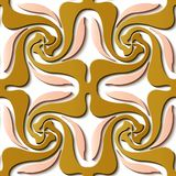 Virvel för spiral för modell för sömlös lättnadsskulpturgarnering retro vektor illustrationer