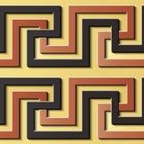 Virvel för spiral för modell för sömlös lättnadsskulpturgarnering retro royaltyfri illustrationer