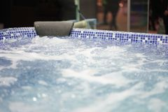 virvel vatten för bubbelpool Arkivbilder