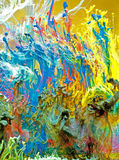 virvel vatten för färgpulver arkivbilder