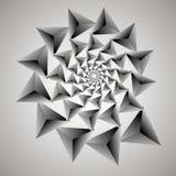Virvel virvelbakgrund Roterande spiral Modell av virvla av hjärtor Triangel lutning, kontur Arkivfoto