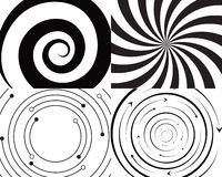 virvelcirkellogo och symbolmall stock illustrationer