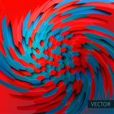 Virvelillustration bakgrundstwirl Distorsion av sexhörningar bakgrund 3d stock illustrationer