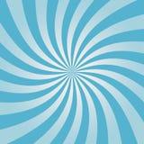 Virvlande runt blå sunburstmodell Radiell design för komisk bakgrund Virvelbakgrund vektor stock illustrationer