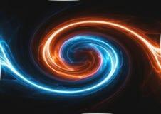 Virvlande runt plasma för brand och för is vektor illustrationer