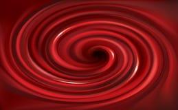 Virvlande runt röd bakgrund för vektor Fruktsaft av röda frukter Arkivfoton