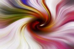 Virvlande runt regnbåge av att flytta sig för färger Arkivbild
