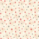 Virvlande runt spiral sömlös modell av vita cirklar mezen målningen ethnic stock illustrationer