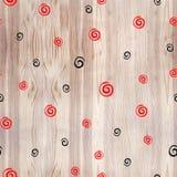 Virvlande runt spiral sömlös modell av vita cirklar mezen målningen ethnic royaltyfri illustrationer