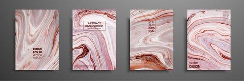 Virvlar av marmor eller krusningarna av agat Vätskemarmortextur Fluid konst Tillämpbart för designräkningar, presentation royaltyfri illustrationer