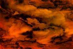 Visão abstrata do inferno Imagens de Stock