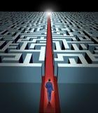 Visão da liderança e do negócio ilustração do vetor