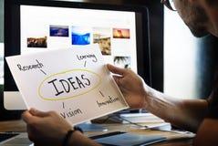 Visão da pesquisa da inovação da ideia que aprende o conceito fotos de stock royalty free