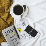 Visão da pesquisa da inovação da ideia que aprende o conceito foto de stock royalty free