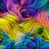 Visão da pintura colorida ilustração stock