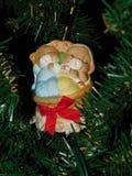 Visão de Santa Dance em suas cabeças Fotografia de Stock Royalty Free