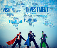 Visão do investimento que planeia o conceito global do sucesso financeiro Foto de Stock Royalty Free