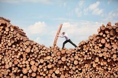visão do negócio - homem de negócios trabalhador Foto de Stock Royalty Free