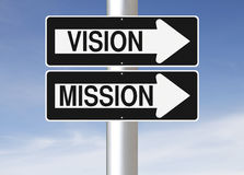 Visão e missão Imagem de Stock Royalty Free
