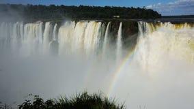 Visão geral do sistema impressionante de Foz de Iguaçu em Argentina vídeos de arquivo