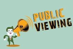 Visão pública da escrita do texto da escrita Significado do conceito capaz de ser visto ou sabido por todos aberto à vista geral ilustração stock
