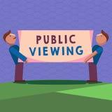 Visão pública da escrita do texto da escrita Significado do conceito capaz de ser visto ou sabido por todos aberto à vista geral ilustração royalty free