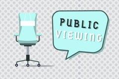 Visão pública do texto da escrita da palavra Conceito do negócio para que capaz seja visto ou sabido por todos aberto à vista ger ilustração stock