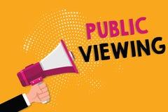 Visão pública do texto da escrita da palavra Conceito do negócio para que capaz seja visto ou sabido por todos aberto à vista ger ilustração do vetor