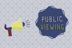 Visão pública do texto da escrita da palavra Conceito do negócio para que capaz seja visto ou sabido por todos aberto à vista ger ilustração royalty free