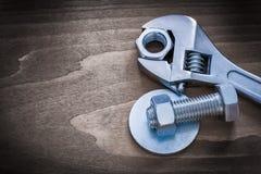 Vis-écrou et screwbolt inoxydables de joint de boulon de clé réglable Image stock