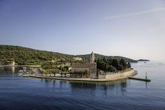 Vis da ilha na Croácia fotografia de stock