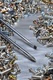 Vis de joints d'écrous de boulon de tournevis et de matériel Image libre de droits
